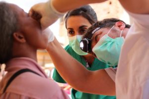Oliver enjoys training young dentists as part of his humanitarian work
